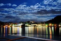 (Andrea Cucconi) Tags: city longexposure lake night town nikon slovenia bled slovenija slo d300 jezero blejsko andreacucconi