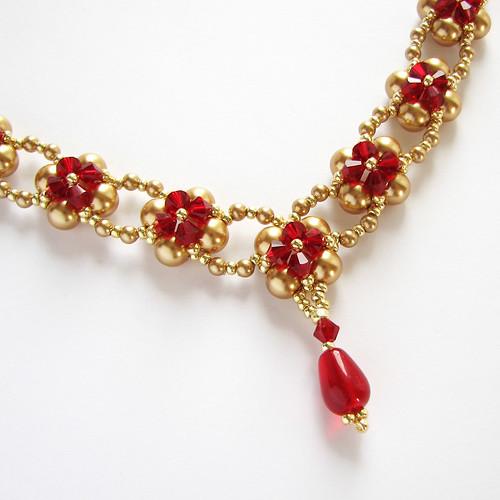 swarovski beadwoven necklace
