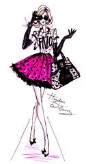 'Fashion's Night Out' by Hayden Williams (Fashion_Luva) Tags: fashion illustration night out williams hayden fashions 2011