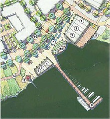Alexandria site, waterfront amenities detail (by: Cooper Carry via Potomac River Green)