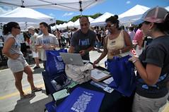 Sign ups at Ala Moana Farmers Market