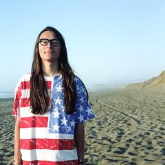 America, the beautiful (seanpaulrichards) Tags: portrait usa mamiya c220 beach proud america self hair stars nc cool team long lets stripes go pride 330 dont care portra vc 220 160