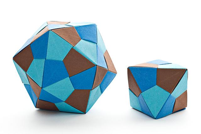 Квадраты, без клея, схема