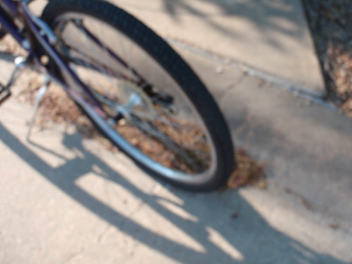 Bike Wheel with Shadow