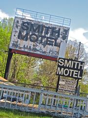Smith Motel, Calhoun, GA (Robby Virus) Tags: georgia peeling calhoun motel smith billboard faded crusty