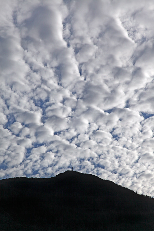 clouds over Kasaan Mountain, Kasaan, Alaska