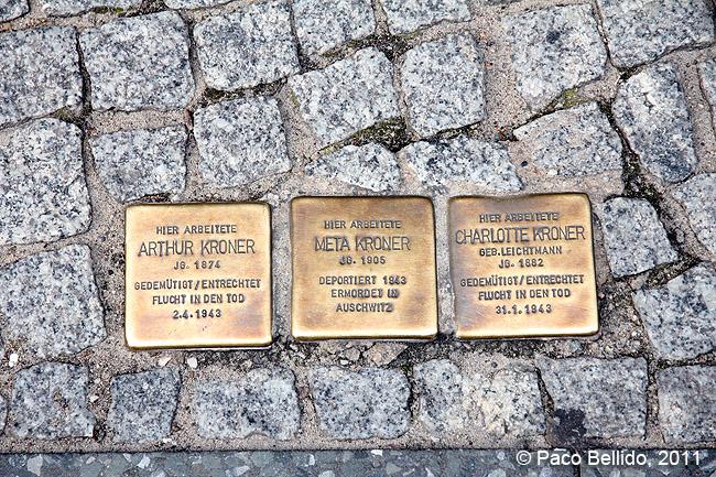 Berlín - Placas conmemorativas del Holocausto