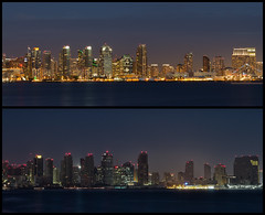 San Diego Skyline Blackout Comparison - HIGH RES (Justin in SD) Tags: light contrast dark out lights power sandiego september both blackout 8th compare outage 2011