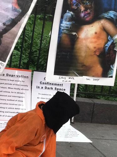 Re-enactment of Guantanomo Torture Victim