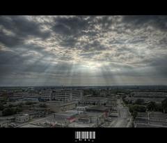 Lueur D'espoir Sur La Ville (_MrQ*s_ (Marcus)) Tags: city blue sky sun streets clouds hope nikon view bleu ciel lightning nuages 18200 vue ville vr placesaintmichel lightsrays mrqs