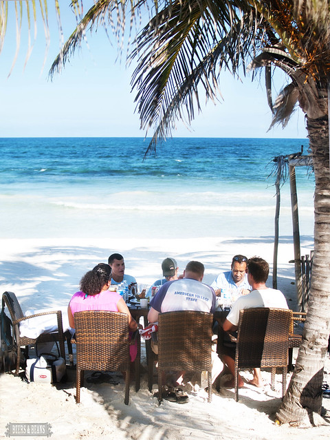 Blogger Lunch On The Beach in El Bistro Tulum, Mexico