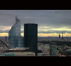 La Dfense / Paris (Philippe2032 from Paris) Tags: urban panorama paris france tower skyline skyscraper landscape europe cityscape tour eiffel fromabove toureiffel metropolis cbd eiffelturm iledefrance parisian ladfense tourfirst agglomrationparisienne
