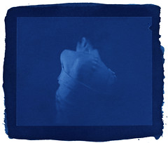 """possession"" : Cyanotype Vers (TommyOshima) Tags: arches watercolour 4x5 possession cyanotype contactprint alternativeprint altprocess rolleir3film"