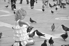 (Najla Sa3ad) Tags: venice girl child pigeons