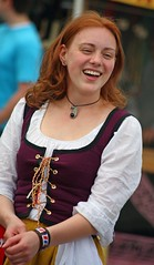 Ah,not much finer than a smiling redhead! (IMG_8447a) (Alaskan Dude) Tags: costumes people alaska portraits anchorage outfits renaissancefairs renfairs threebaronsrenaissancefair 2011threebaronsrenfair