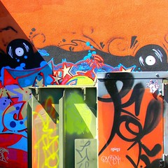 Art of Mix Art (Dom Guillochon) Tags: california light usa abstract art colors wall fun graffiti shadows unitedstates sandiego couleurs colori northpark ombres paintedwall utilitybox paintedutilitybox