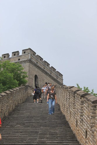 Beware of uneven stairways at Mutianyu Great Wall Beijing China