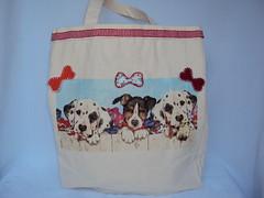 Eco Bag Pet cachorros (Cia Ateliê) Tags: pet cachorro feltro eco decoupage ecobag aplicação sacola customização