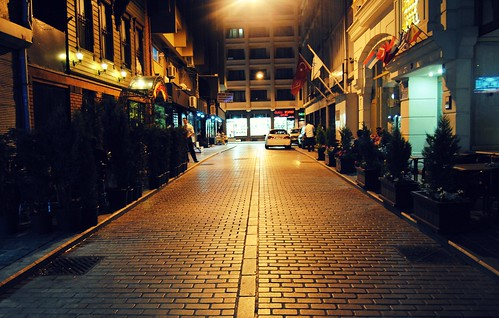Istanbul Street at Night