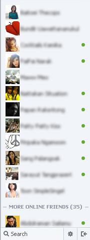 facebook chat add scrolling in messaging sidebar