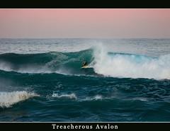 Treacherous Avalon (LIVEILLUSION photography) Tags: ocean blue beach water clouds canon waves surfer sydney australia surfing beaches avalon northernbeaches 5dmark2