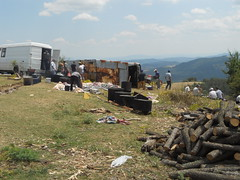 It's time to clean up (ali eminov) Tags: wood people men fairs bulgaria prayers kettles gatherings yayla cauldrons mevlit rusalsko hotal largekettles