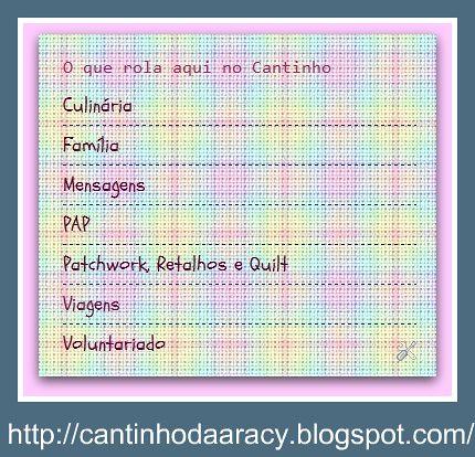 Novidade no blog by Cantinho da Aracy