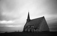 30 seconds to heaven (Thomas Gilbert Photography) Tags: ocean sea france rain mystery canon hope coast solitude alone cloudy spirit atmosphere chapel normandy etretat 76 top20blackandwhite thomasgilbert eos550d
