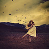 the wind whistles spirited songs (brookeshaden) Tags: selfportrait landscape dance movement frolic orbs fineartphotography brookeshaden texturebylesbrumes