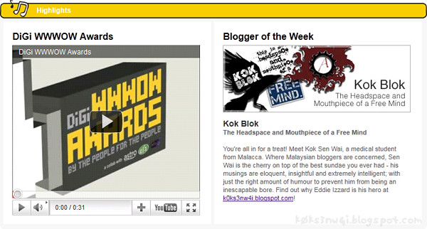 I was Digi Blogger of the Week