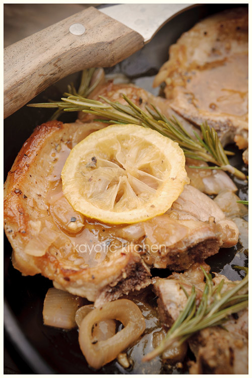 Pork Chops & Lemon Gravy