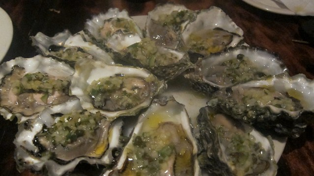 fanny bay oysters at one eared stag