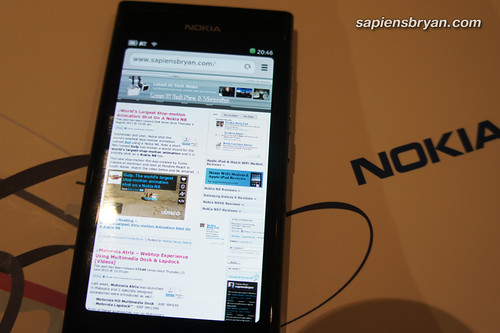 Web Browser Of Nokia N9