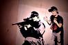 Banksy, Sniper and Child (Jack Clarke) Tags: street blue boy red art hospital dark bristol mouse graffiti artwork stencil rat gun child framed centre banksy croft weapon sniper piece stokes trap signed