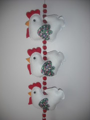 Mbile Galinhas (Ateli de Ideias) Tags: feltro mbile galinhas