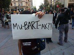 #muBARTak ? sign @opbart as police declare an unlawful protest & order all to sidewalk #opbart
