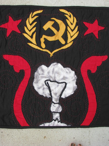 Soviet Union Propaganda Folk Art Quilt