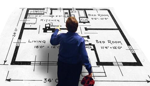 examining floor plans