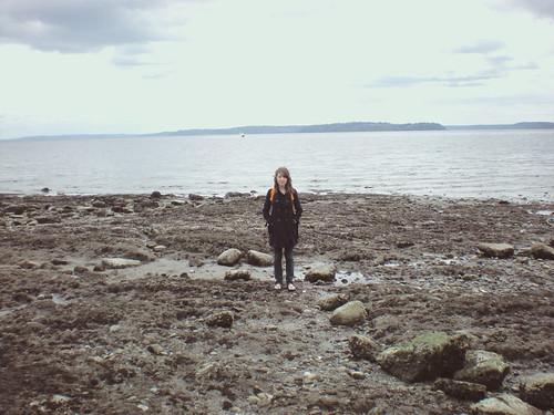 At Alki Beach...