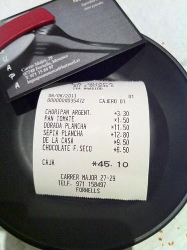 Fornells Menorca | Restaurante La Guapa | Ticket