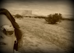 """358-365 """"Travels With My Camera"""" (talesfromtheplain) Tags: usa selfportrait newmexico america canon eos august roadtrip sp tuesday favourite acoma mesa picnik selfie 2011 365days werehere 1000d"""