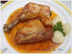 pollo en salmorejo al horno