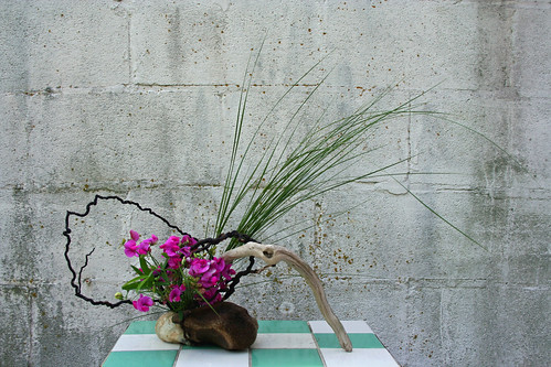 Ikebana with Chesapeake Bay materials