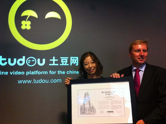 Grace and me with NASDAQ listing certificate