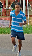 Determined (Legin_2009) Tags: road street people man black male men guy shirt outside outdoors person persona gente african guys running run sneakers dude personas mens jersey males caribbean mann shorts persons poloshirt jogging jog hombre hommes mnner homme hombres mec homens herren mecs mannes