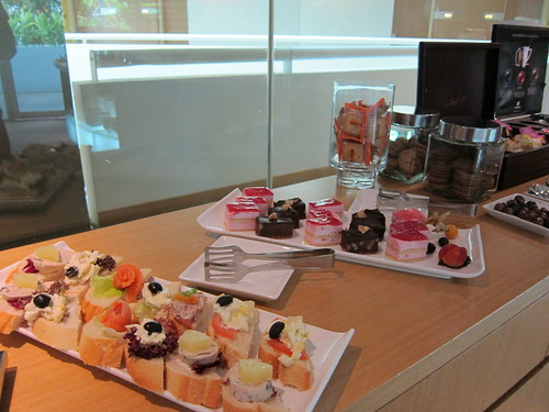 Desserts and finger food available for guests