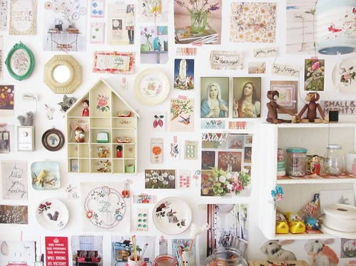 a 'bits and bobs' wall... by dottie angel