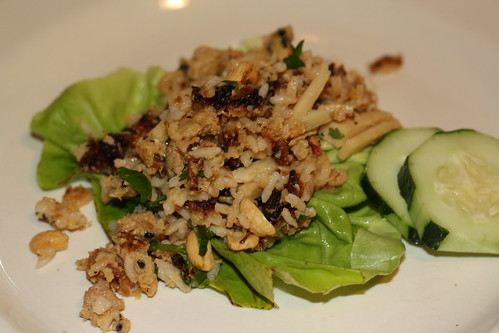 Nem Khao (Laotian Fried Riceball Salad)