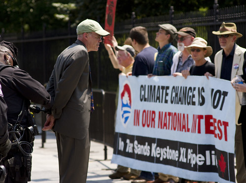 Bill Mckibben Arrested in Front of the White House