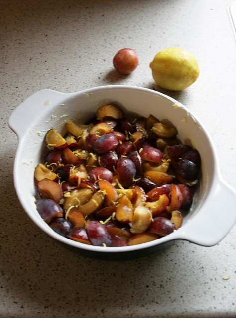 plums for clafoutis